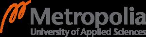 Metropolia AMK logo, jossa linkki Metropolian verkkosivuille
