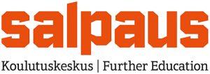 Koulutuskeskus Salpauksen logo, jossa linkki Salpauksen verkkosivuille